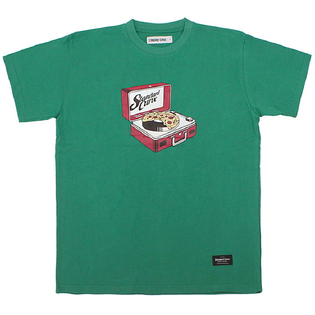 RECORD PIZZA TEE_GREEN