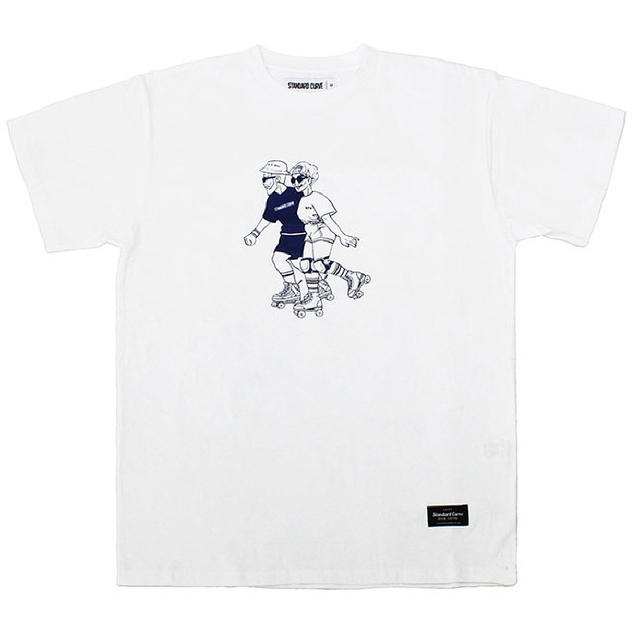 OLD ROLLER COUPLE TEE_WHITE