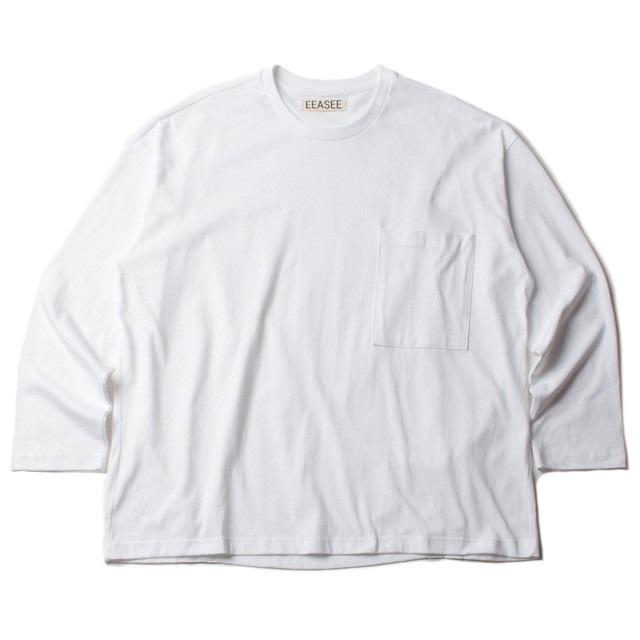 2 TUCK L/S WIDE T_WHITE