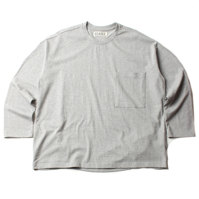 2 TUCK L/S WIDE T_GRAY