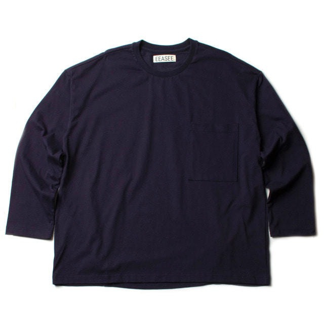 2 TUCK L/S WIDE T_NAVY