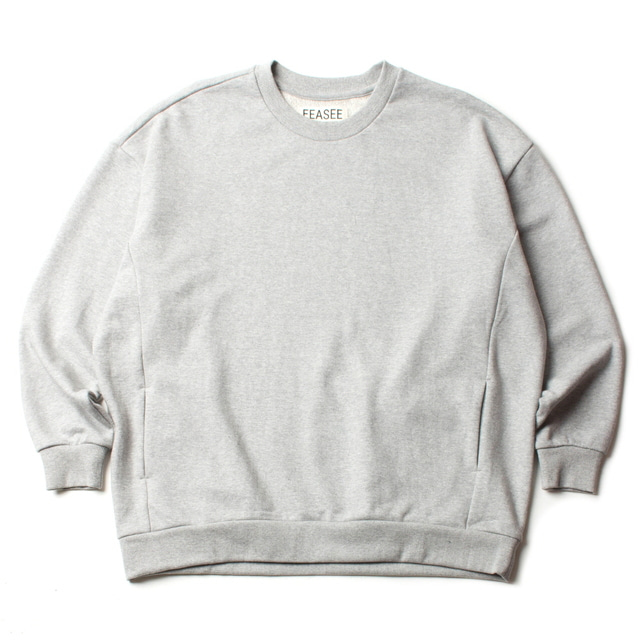 SIDE POCKET WIDE WHARF SWEAT_GRAY