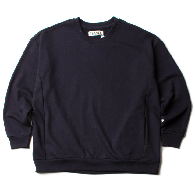 SIDE POCKET WIDE WHARF SWEAT_NAVY