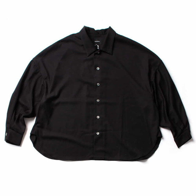 BIG SHIRT-GABARDINE_BLACK
