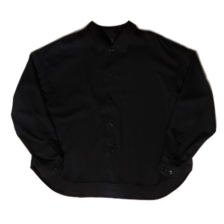 BIG SHIRT JACKET_SOLID BLACK