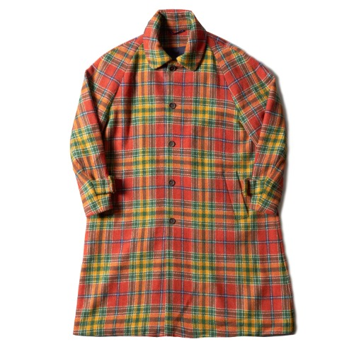 KARL COAT_HARRIS TWEED ORANGE PLAID
