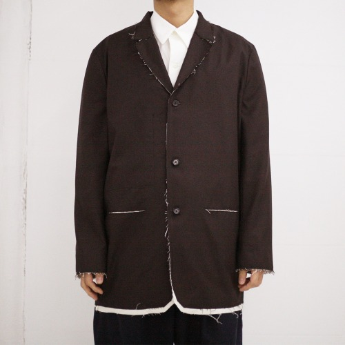LONG SUIT JACKET_BROWN