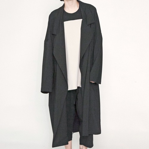 WIDE LONG COAT_BLACK