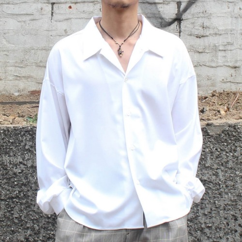 BIG SHIRT GABARDINE_WHITE