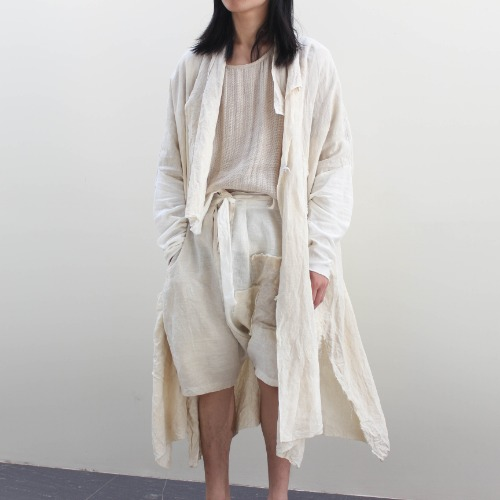 OLD LINEN WASHED COAT