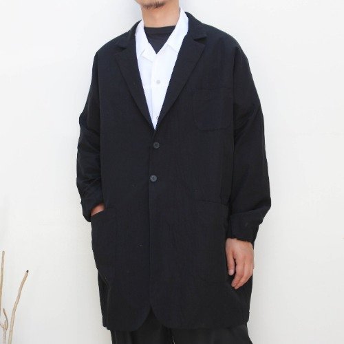 LOOSE FIT COAT_BLACK