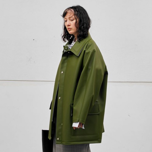 RUBBERISED RAIN JACKET_GREEN