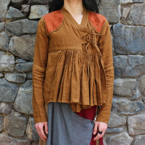 RABARI JACKET_BROWN