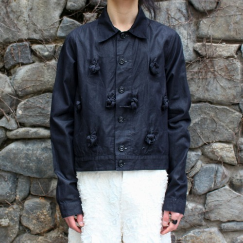 SHORT DENIM BLOUSON_BLACK