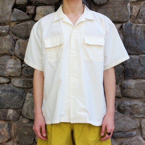 S/S CAMP SHIRT_OFF WHITE