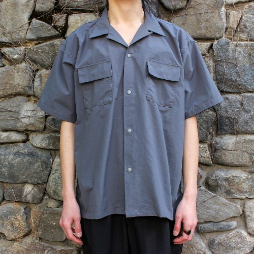 S/S CAMP SHIRT_CHARCOAL