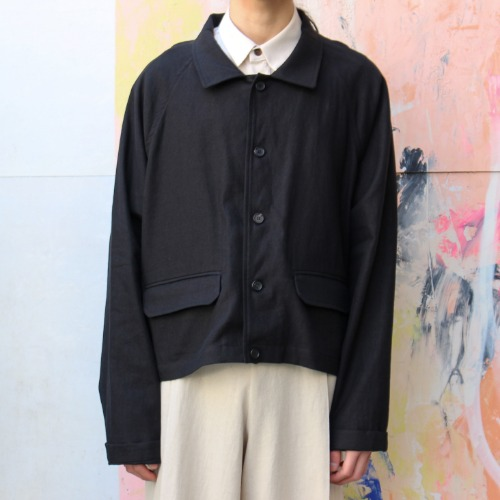 SHORT SHIRT JACKET_BLACK