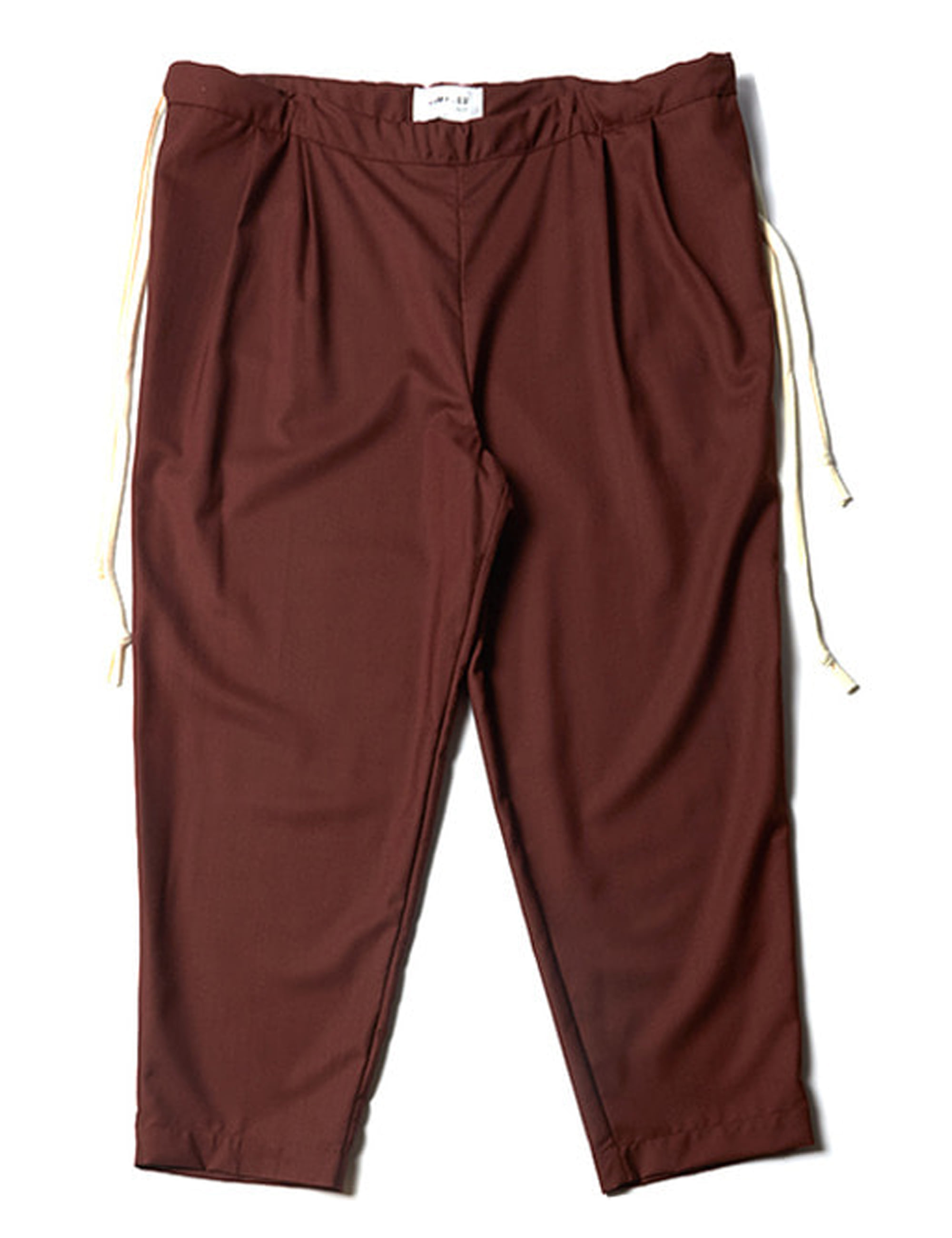 WOOL OVERSIZED PANTS _ BROWN