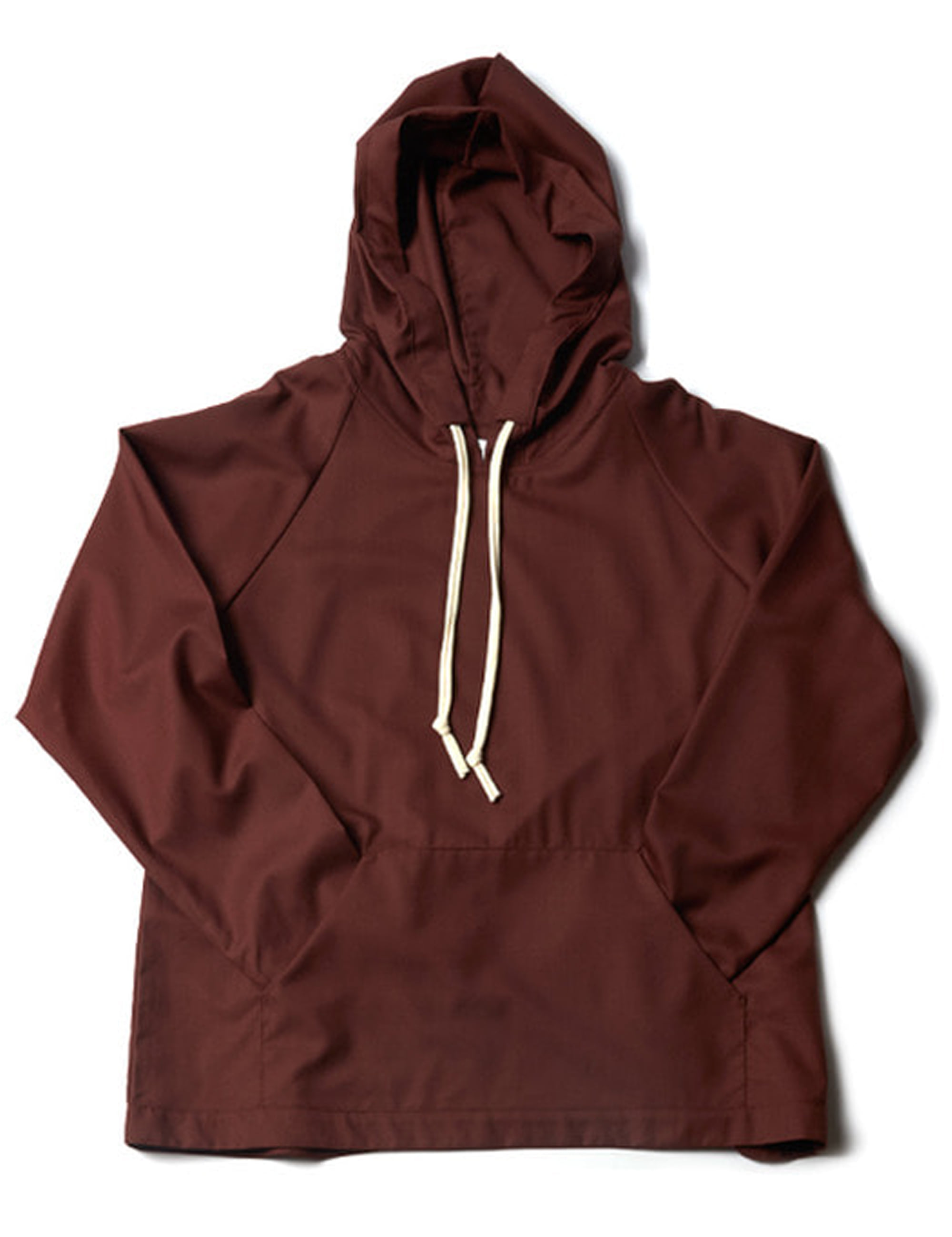 WOOL HOODIE WITH POCKET _ BROWN