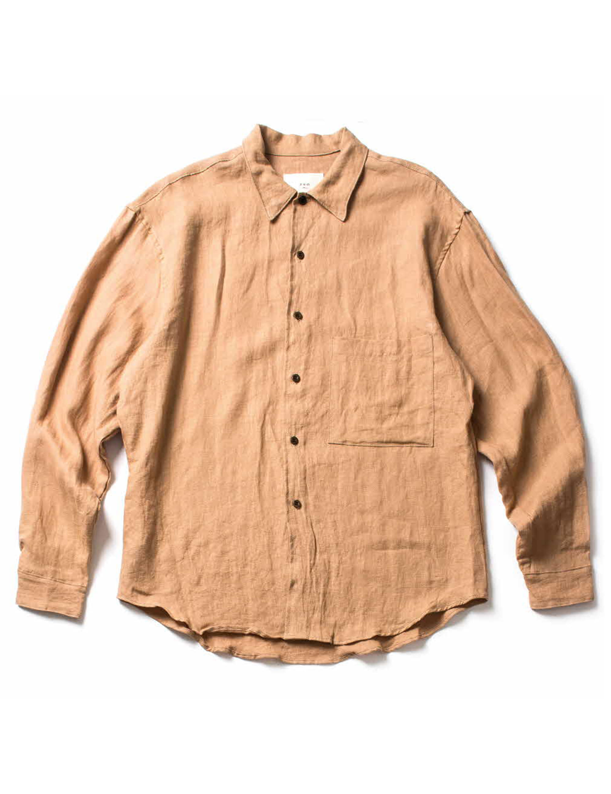 BUTTON DOWN SHIRT_SAND