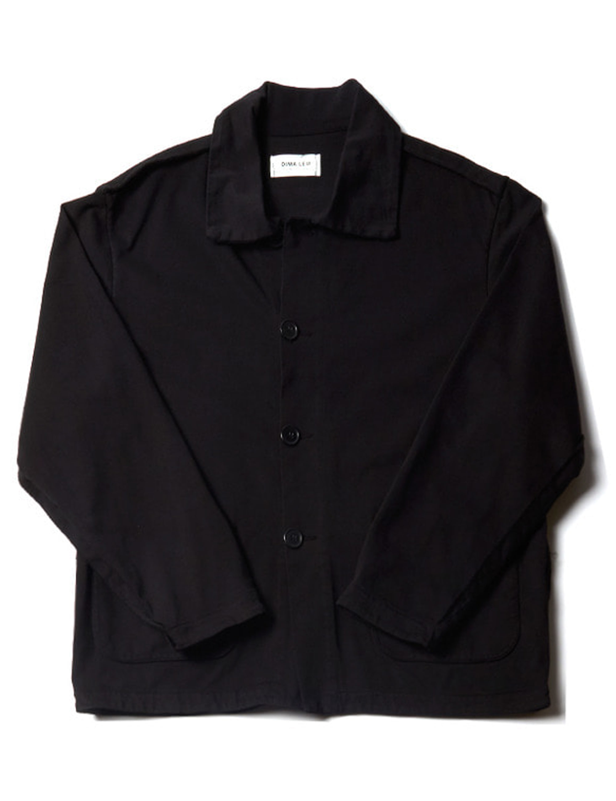 JERSEY OVERDYED OVERSHIRT _ BLACK