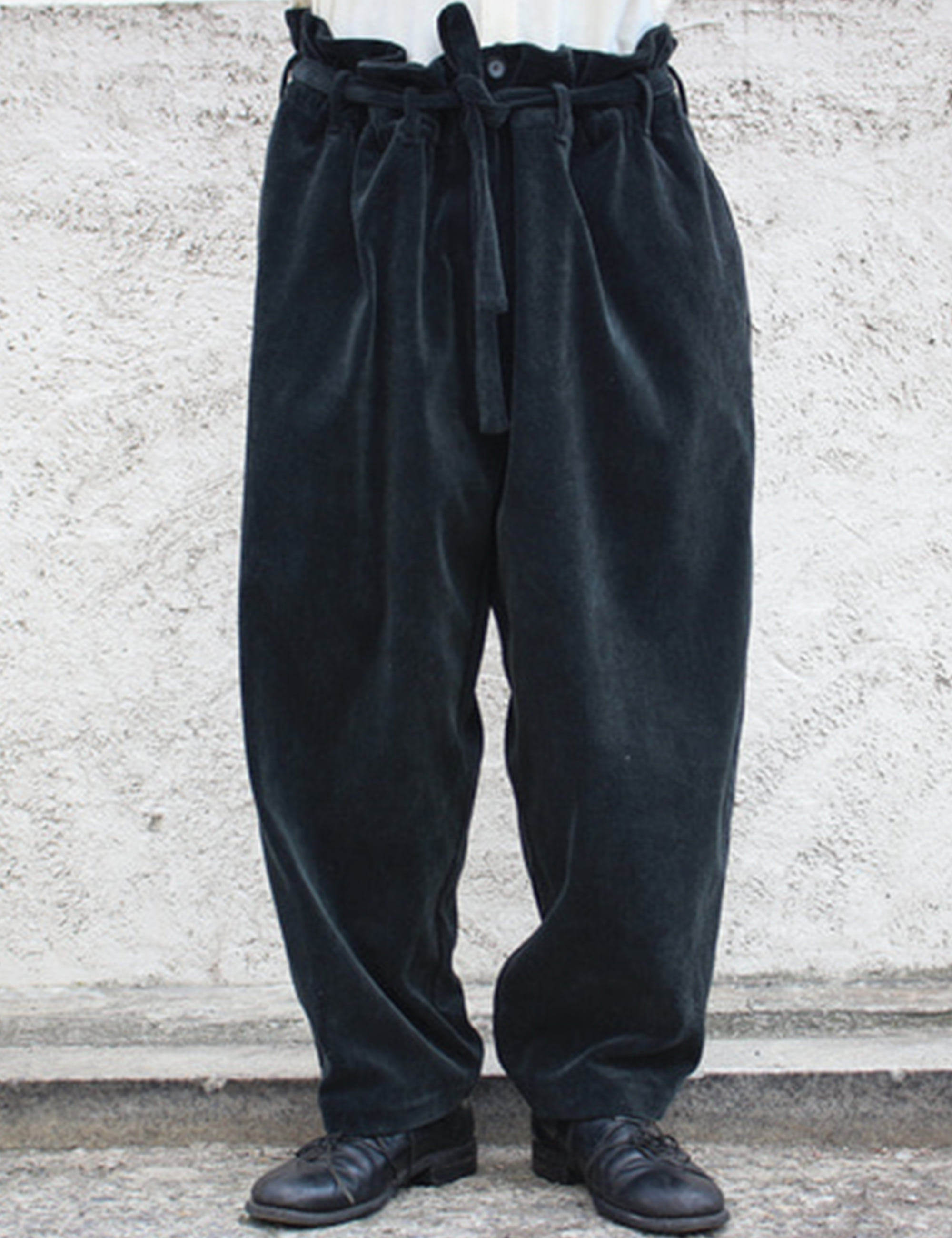 WASHING CORDUROY PANTS_BLACK