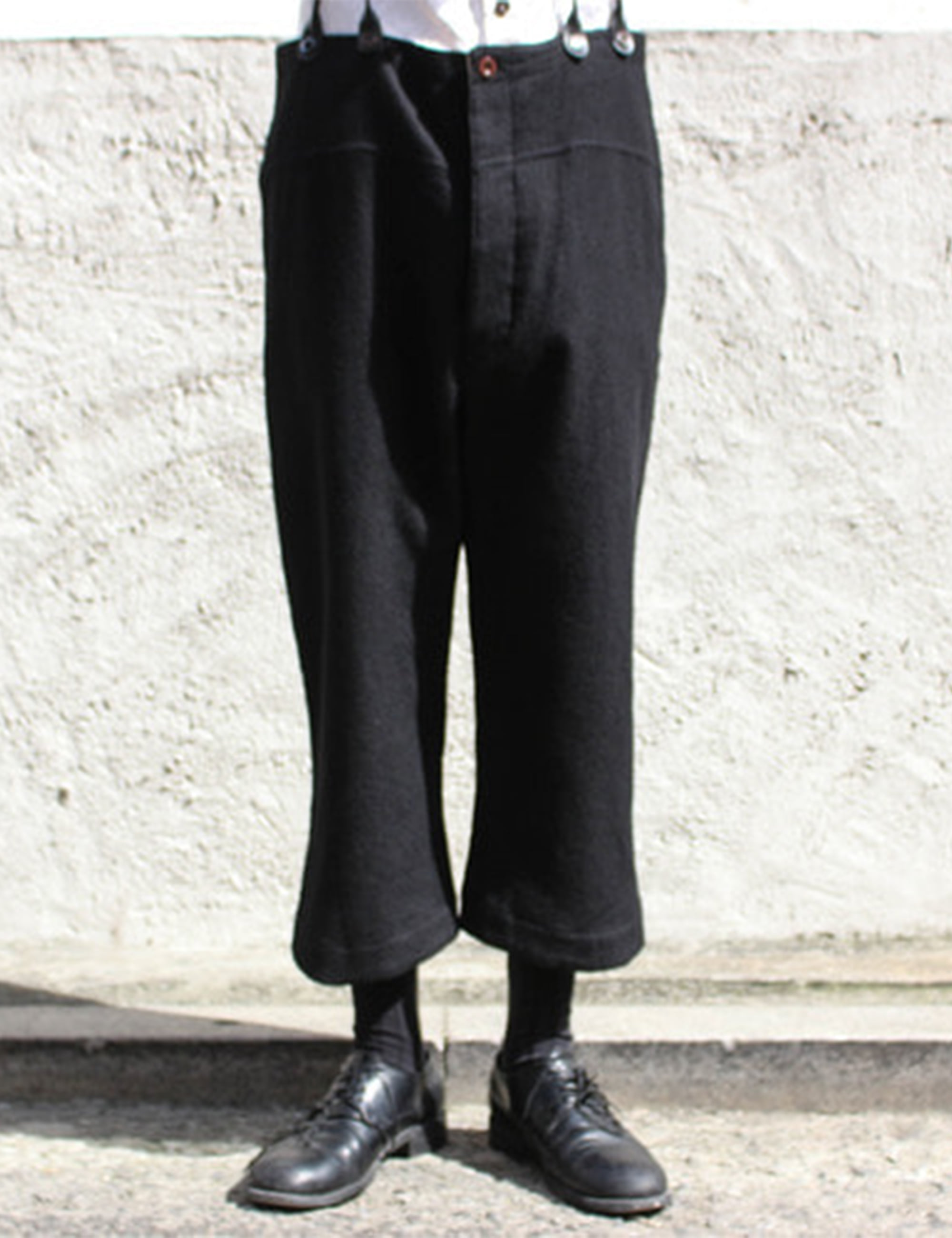 SHORTER BRACES PANTS_BLACK