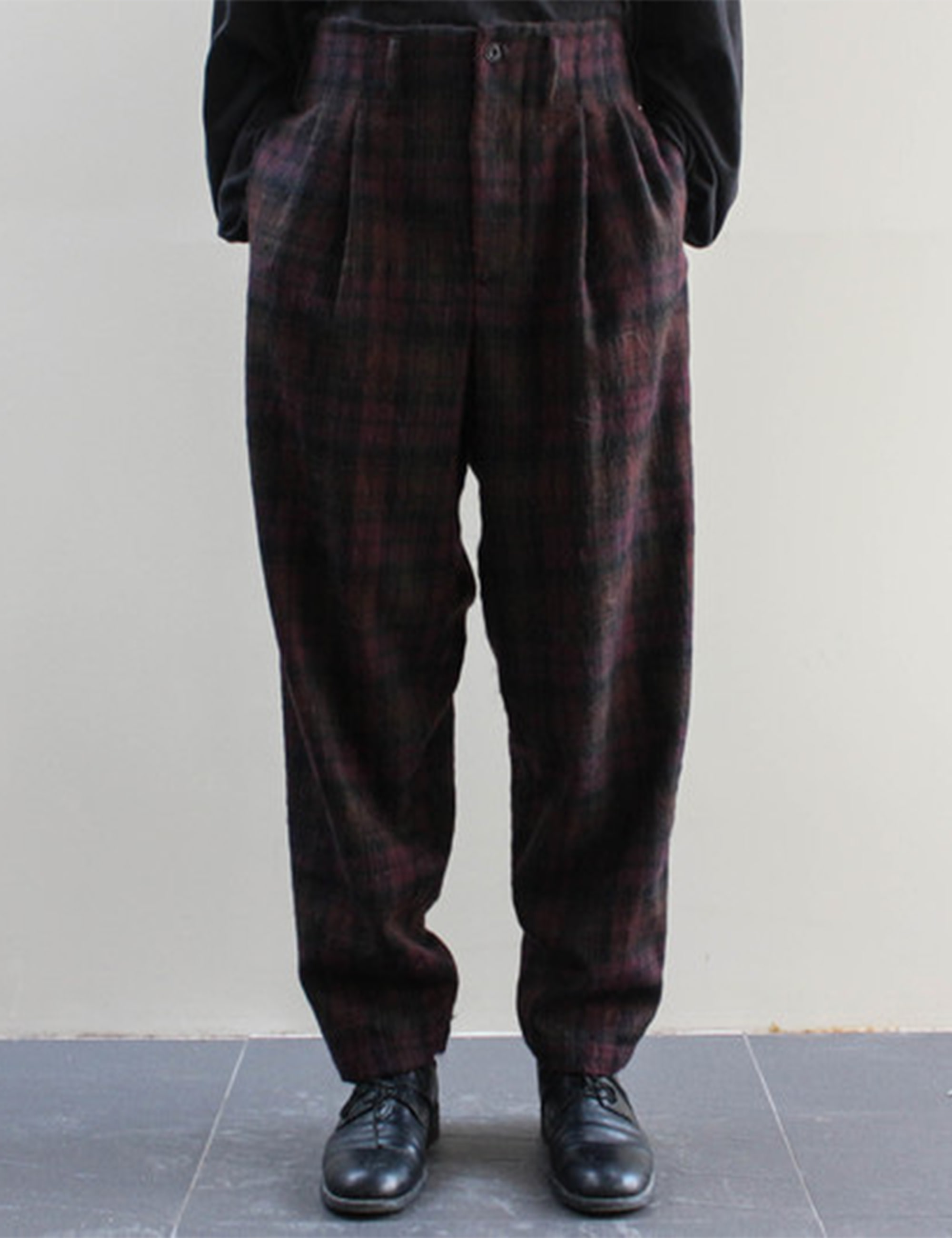 TWO PLEAT TROUSER_BURGUNDY