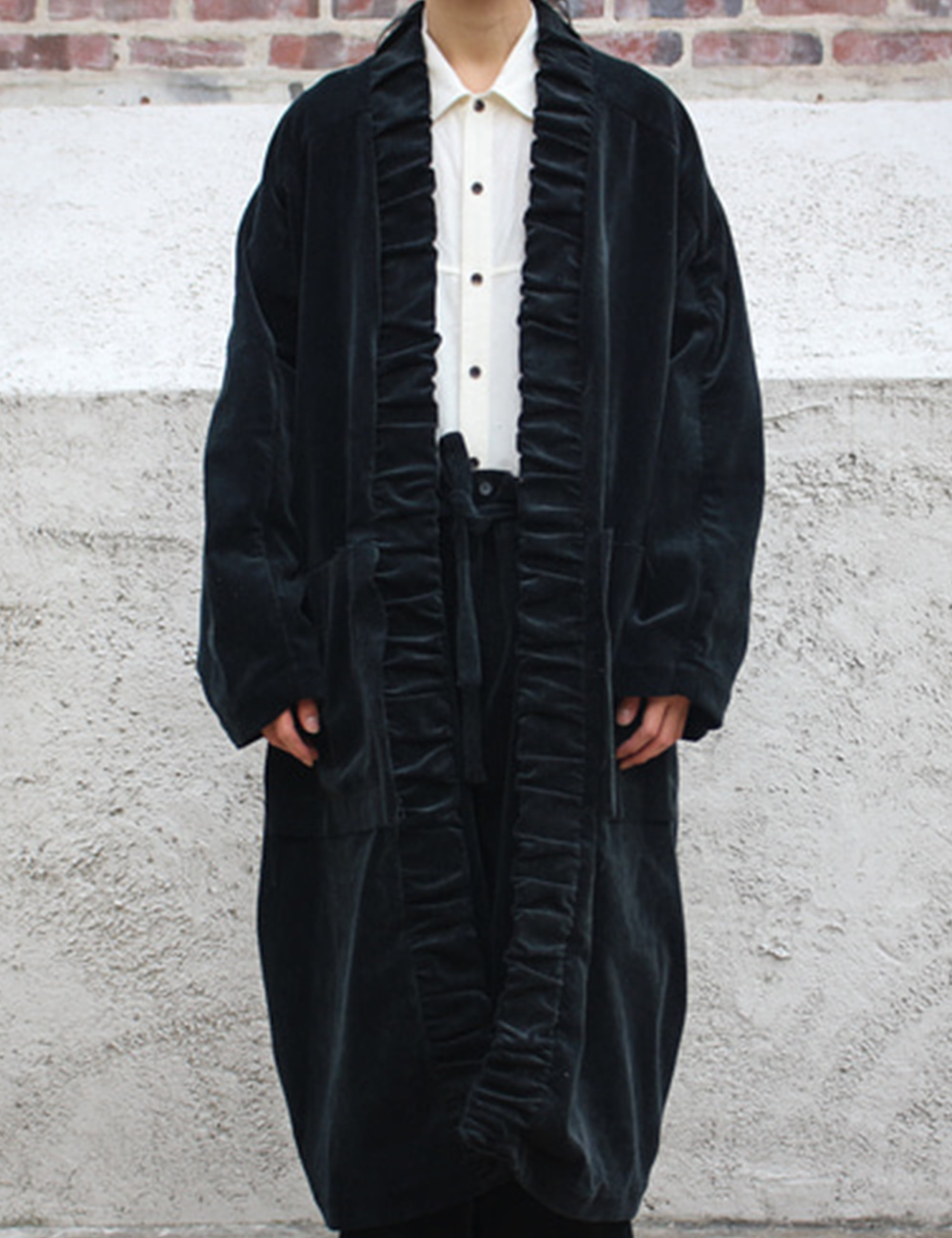 WASHING CORDUROY COAT_BLACK