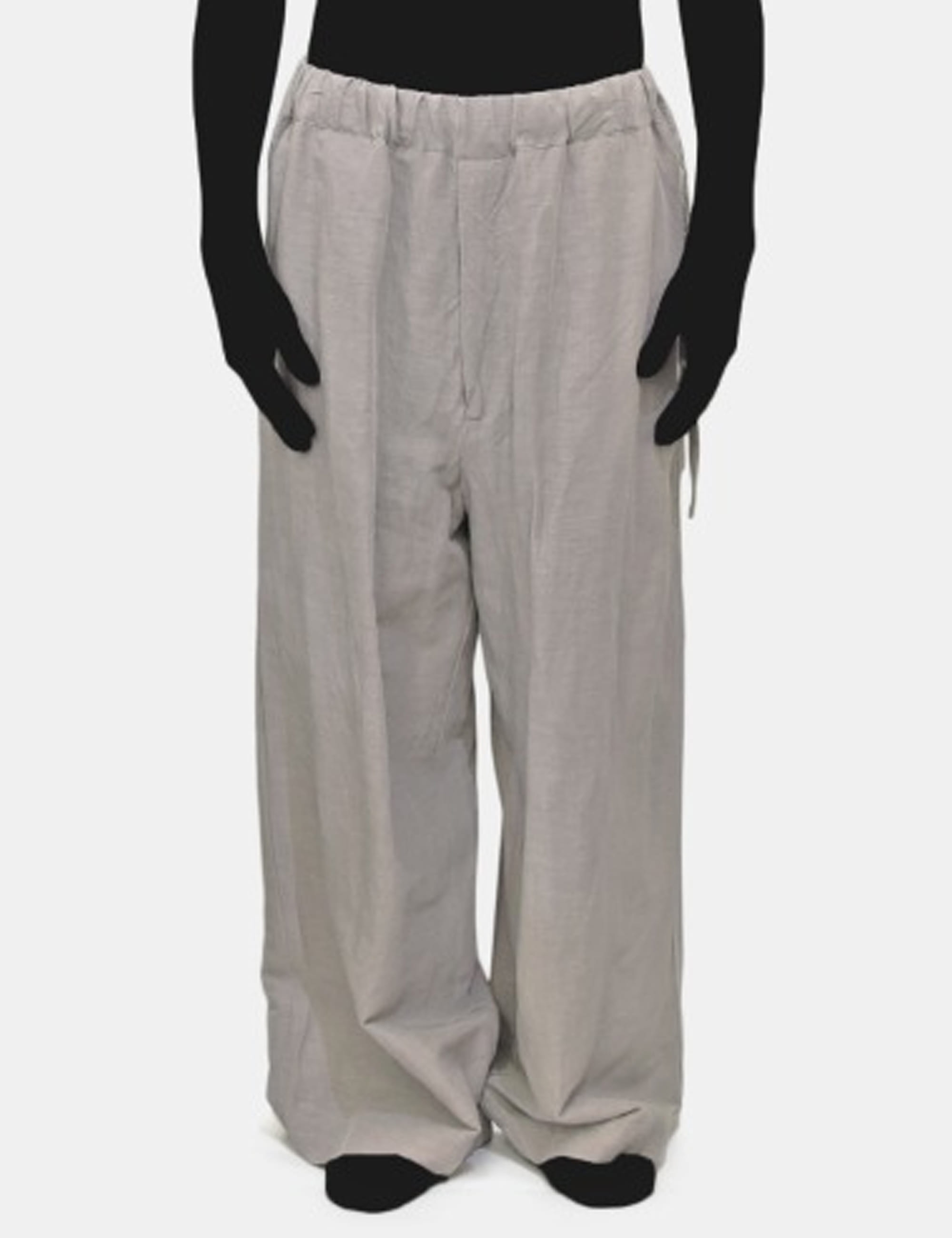 LINEN EASY PANTS_GREY