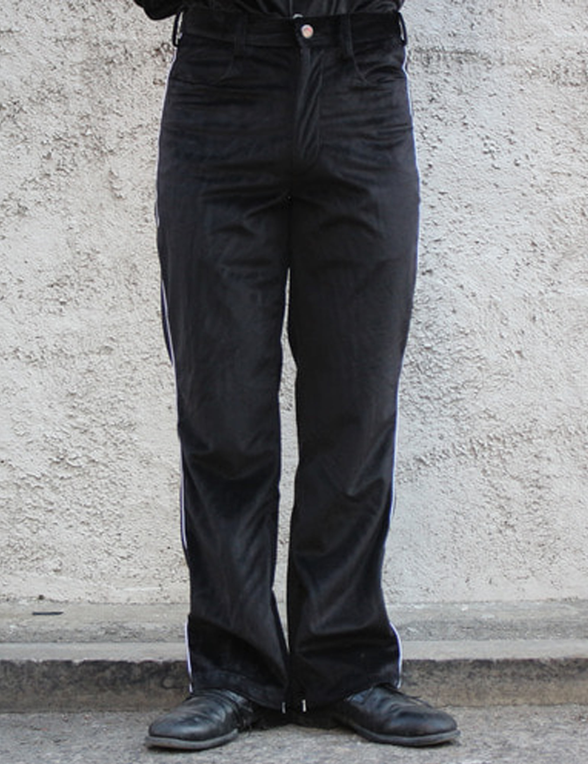 COWBOY ZIP TROUSER_VELOUR BLACK