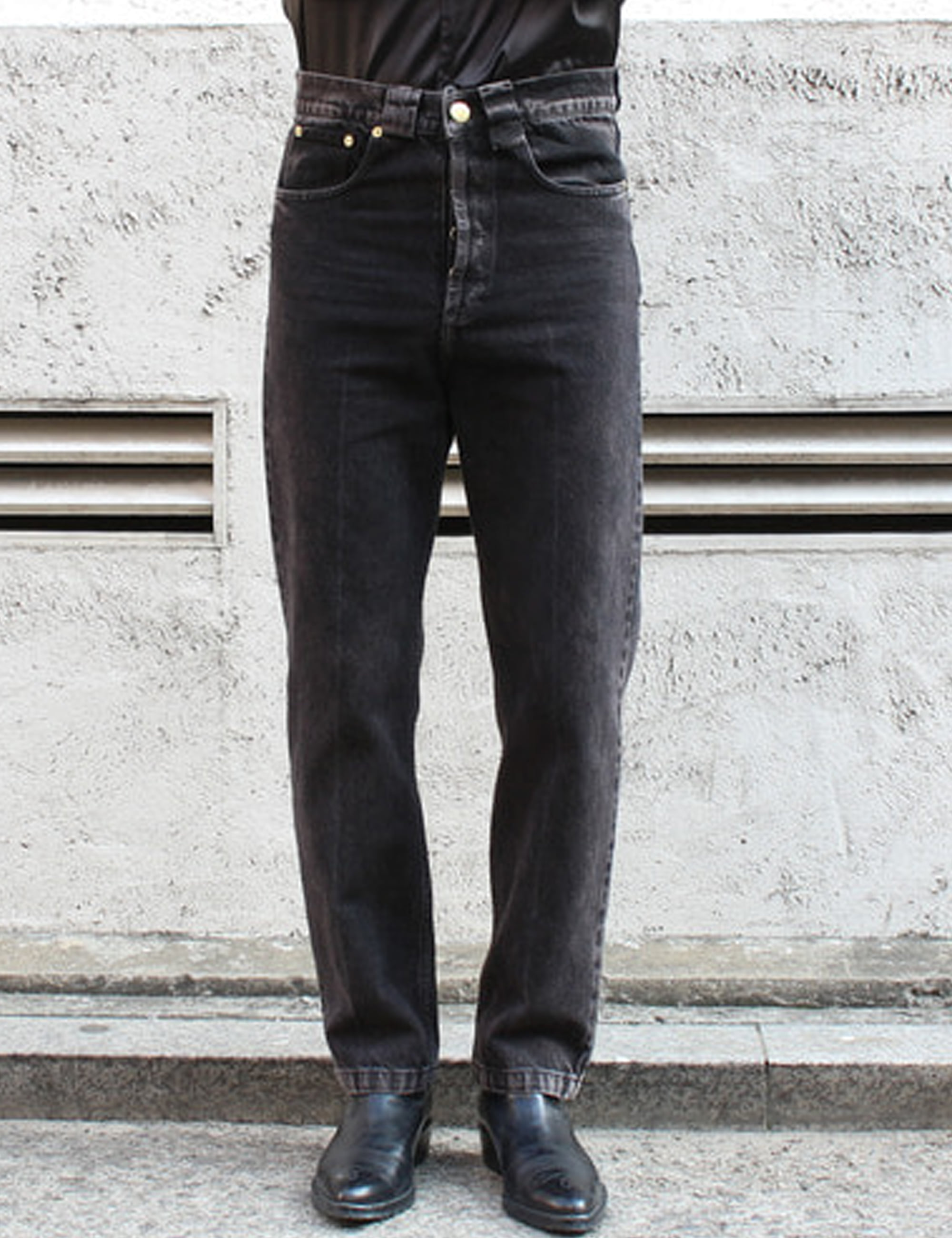 DIRTY WILLY JEANS_WASHED BLACK DENIM