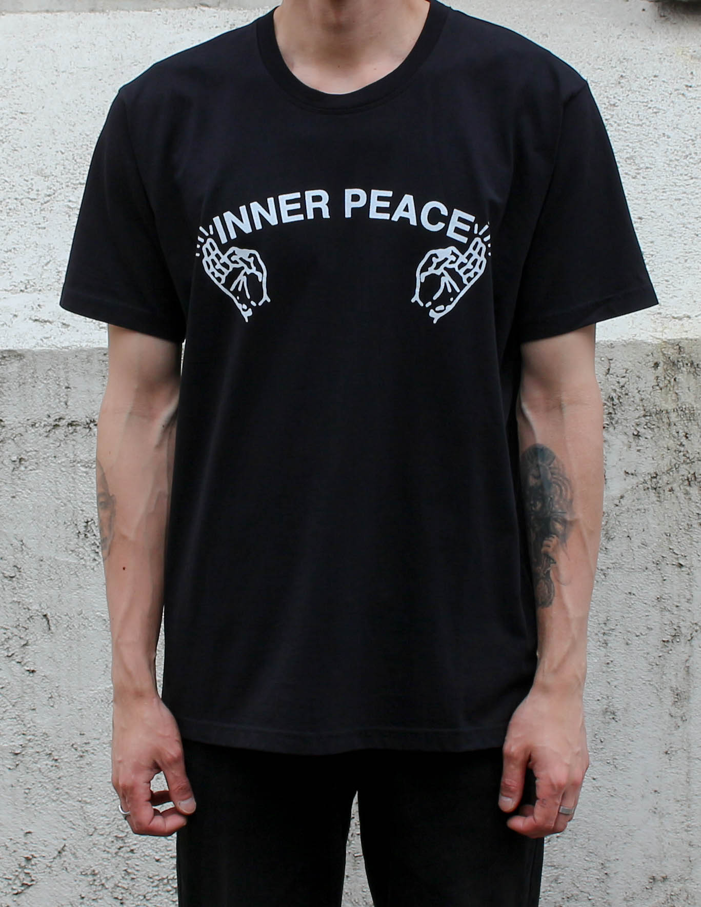 INNER PEACE SS TEE_WASHED BLACK