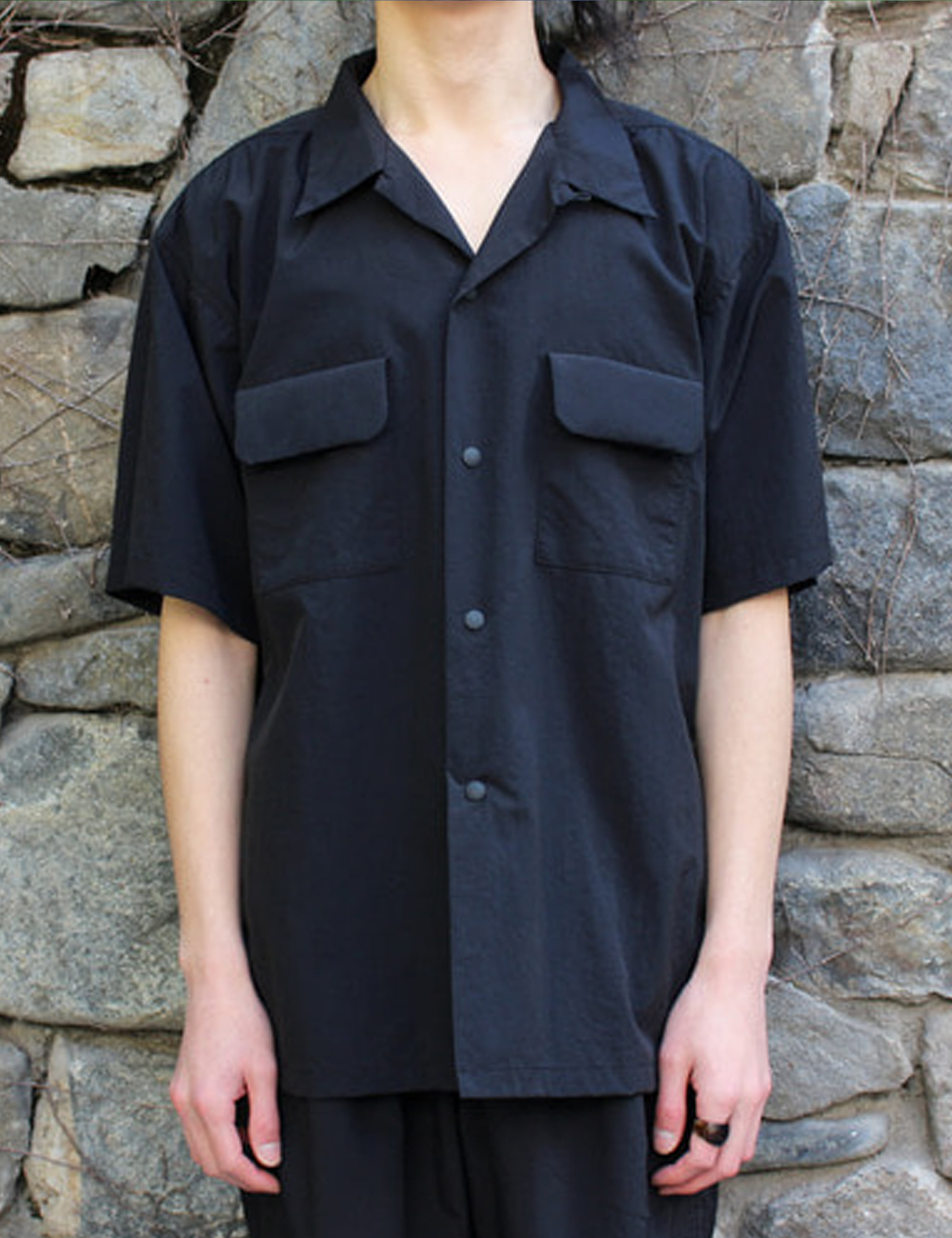 S/S CAMP SHIRT_BLACK