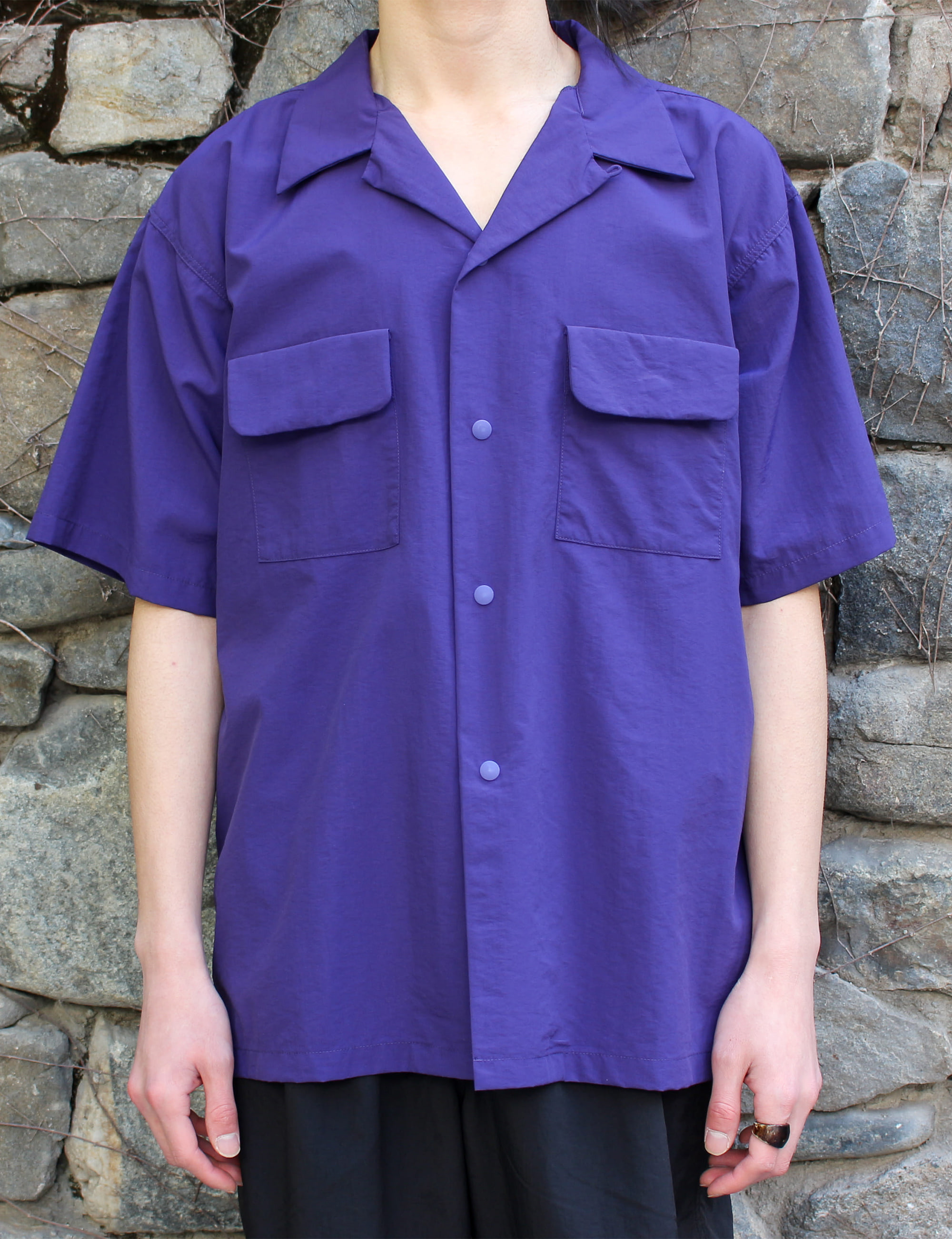 S/S CAMP SHIRT_PURPLE