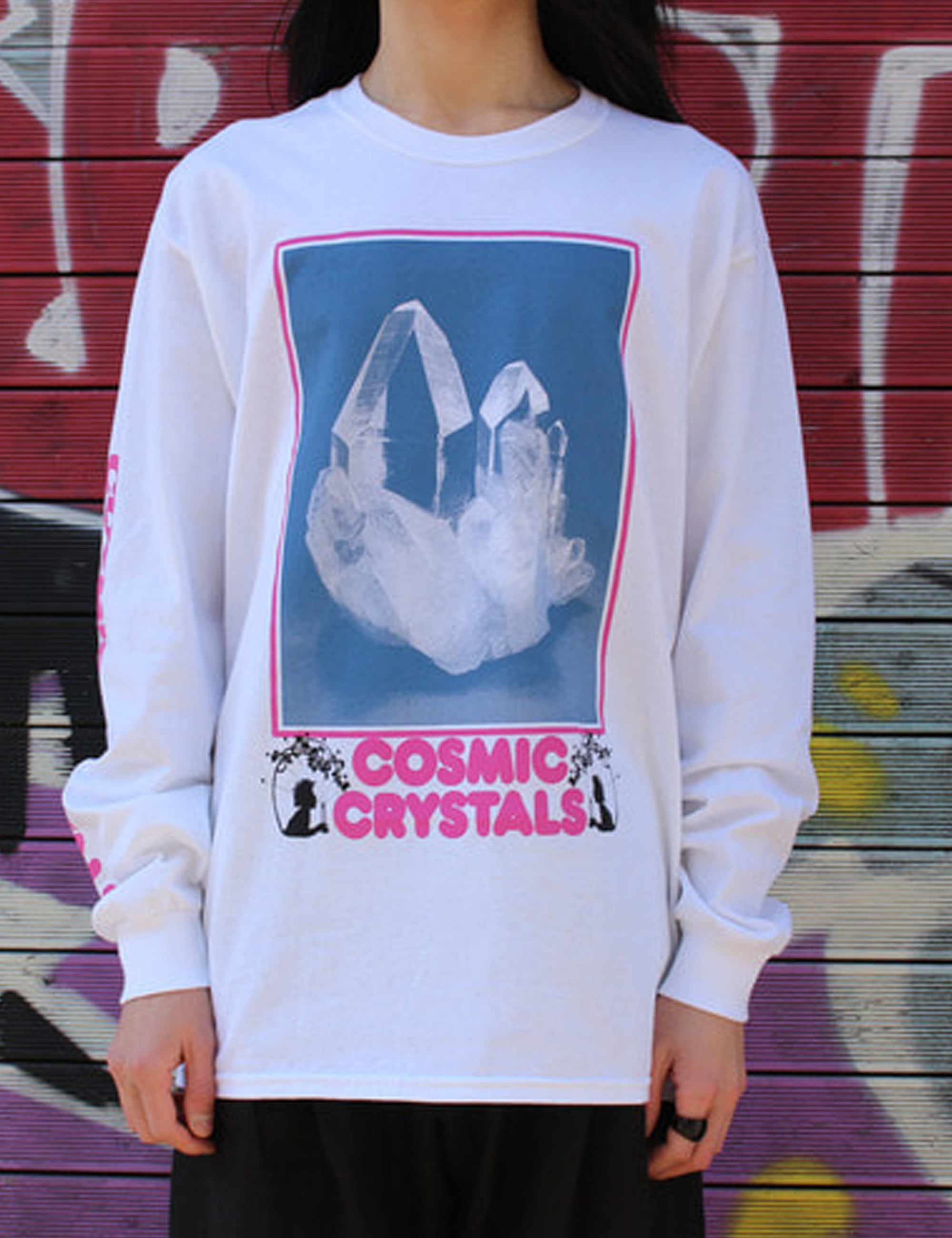 COSMIC CRYSTALS LS TEE_WHITE