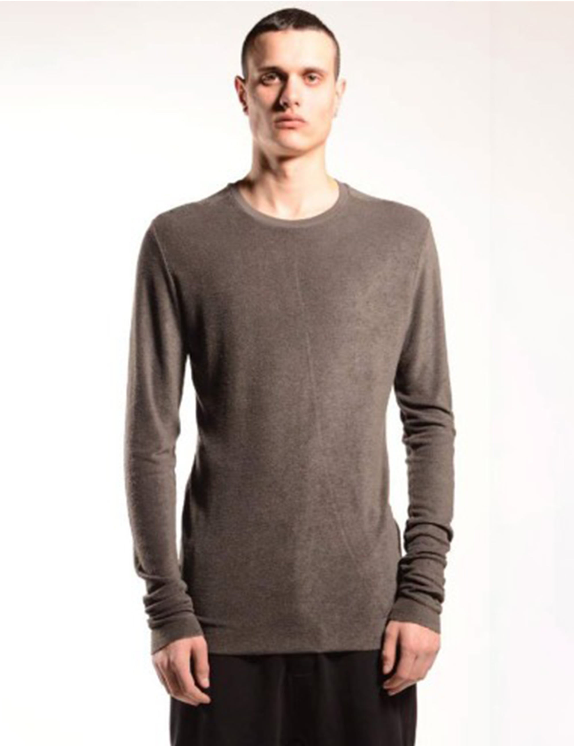 BAMBOO LONG SLEEVE T SHIRT_TAUPE