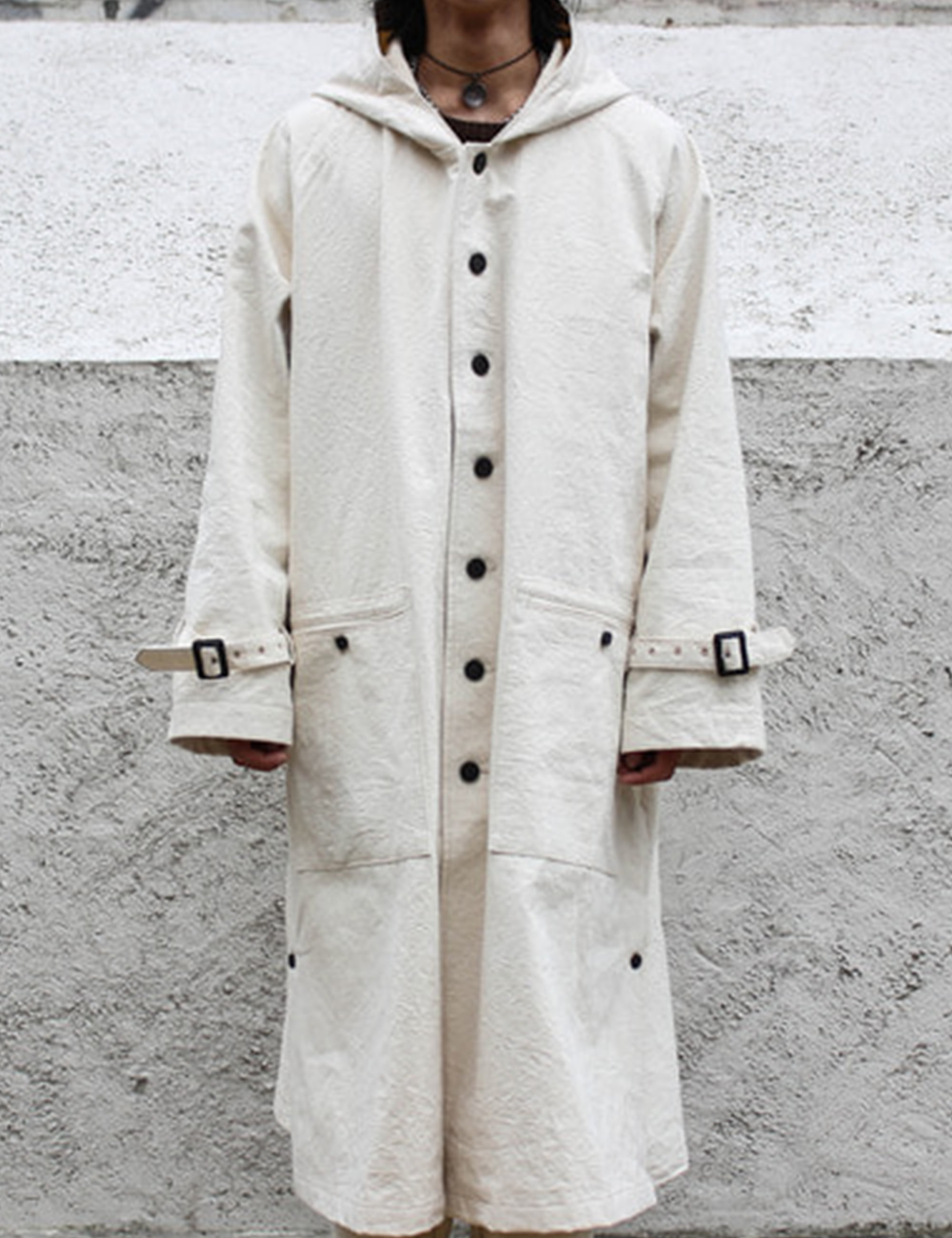 CANVAS COAT_OFF WHITE