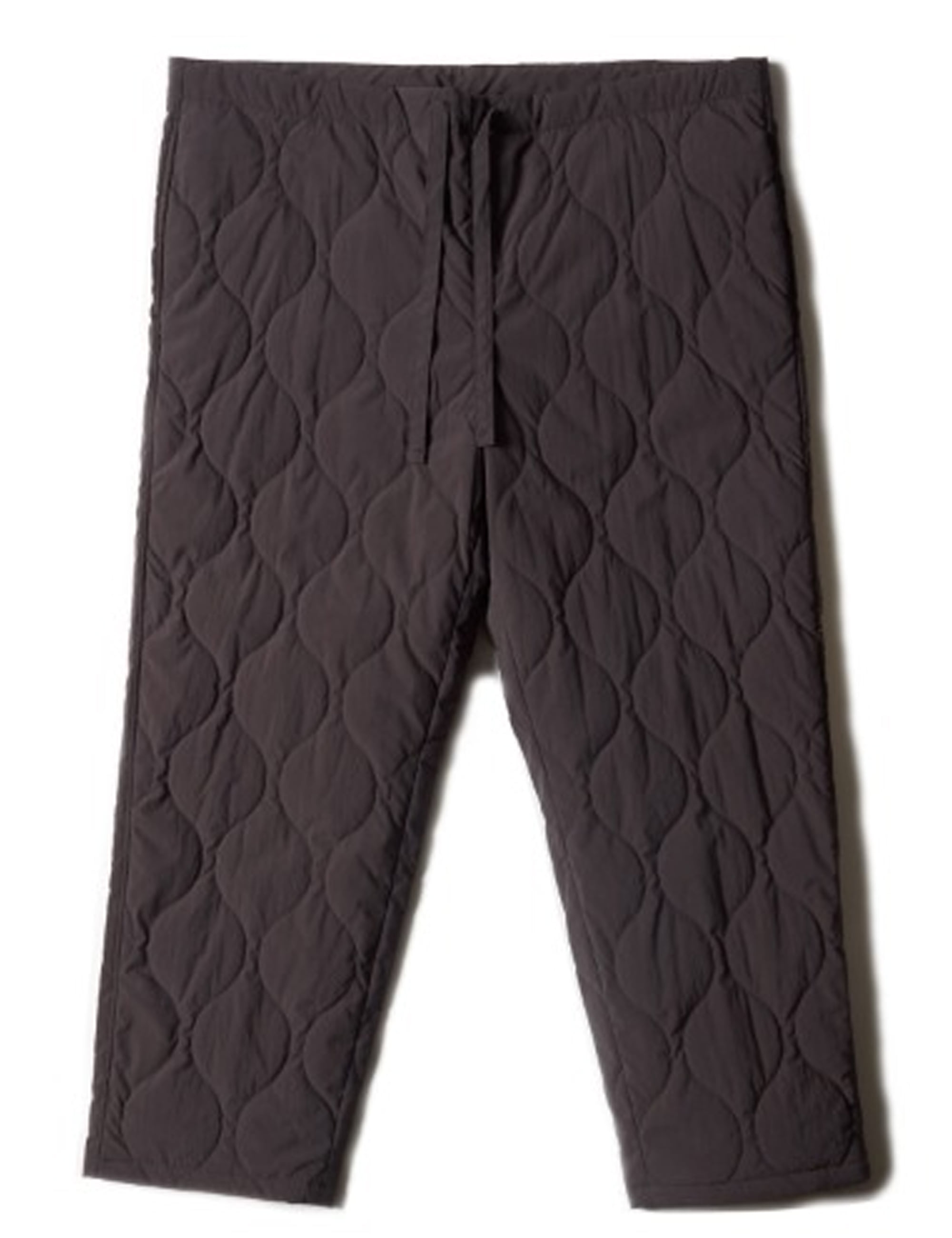 QUILTED DRAWSTRING PANTS_GRAY