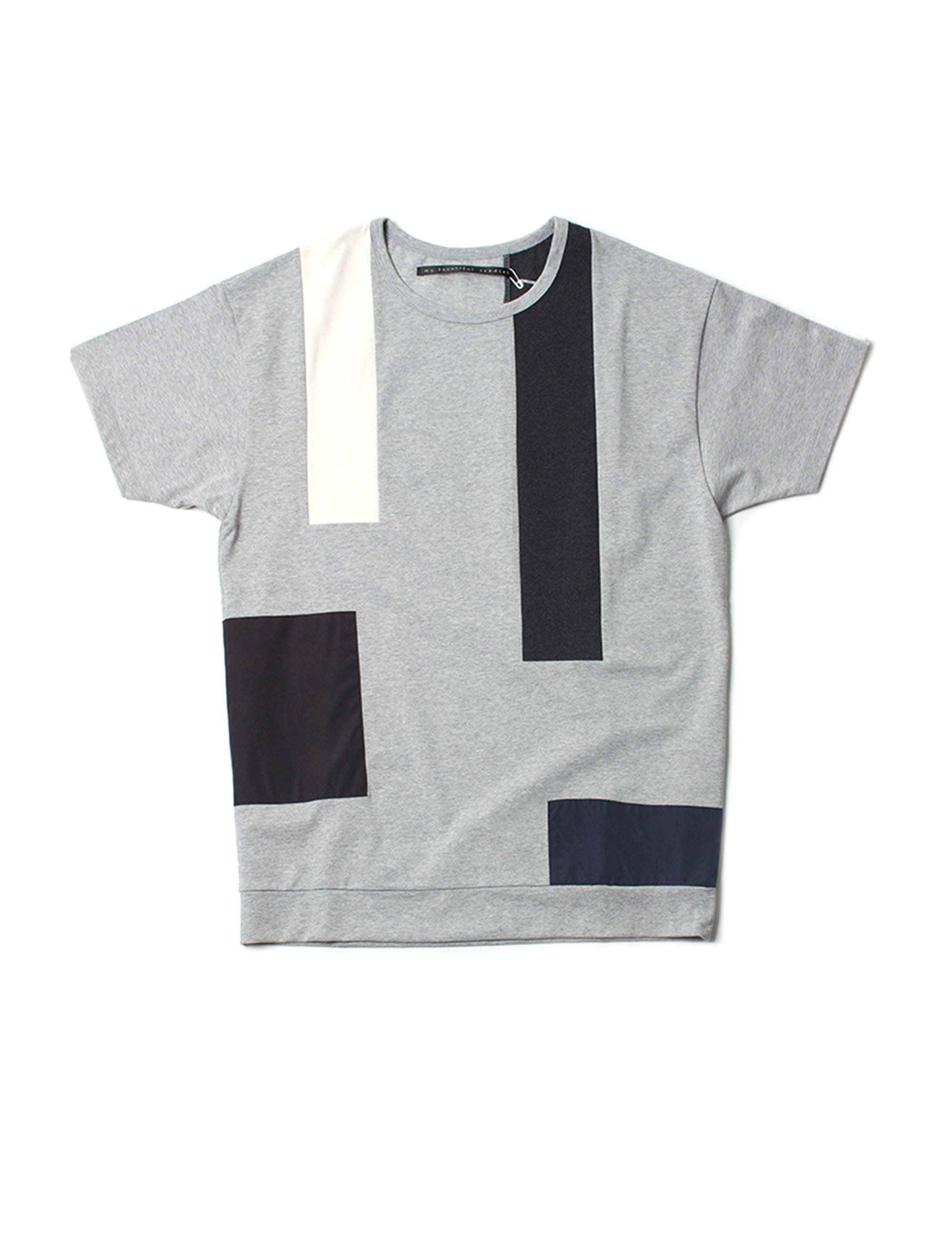 HEMP DYED KNITTED FABRIC TEE_GRAY