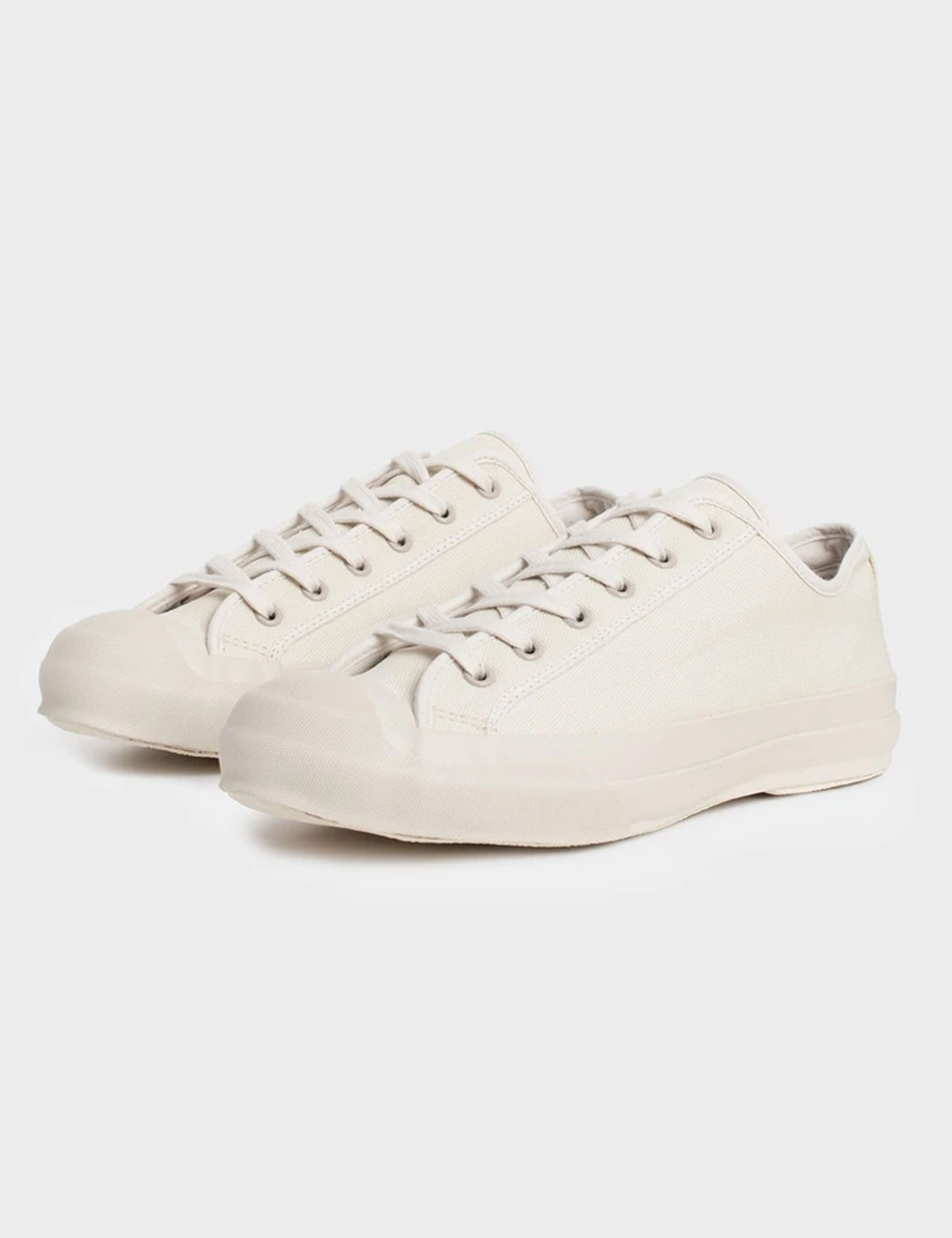 MERINO VULCANISED SOLE CANVAS SHOE IN CREAM