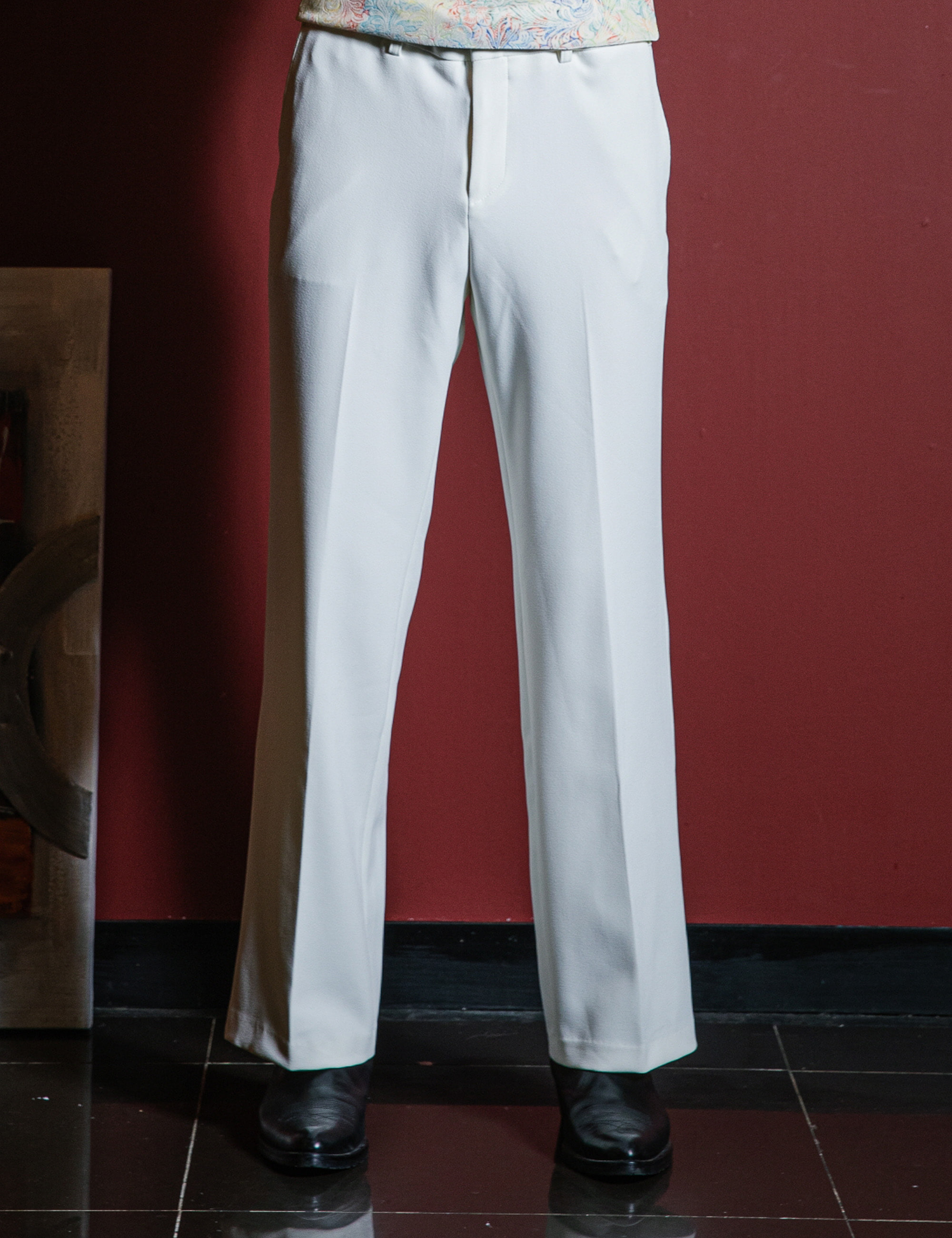 CLASSIC TAILORED SUIT PANTS_IVORY