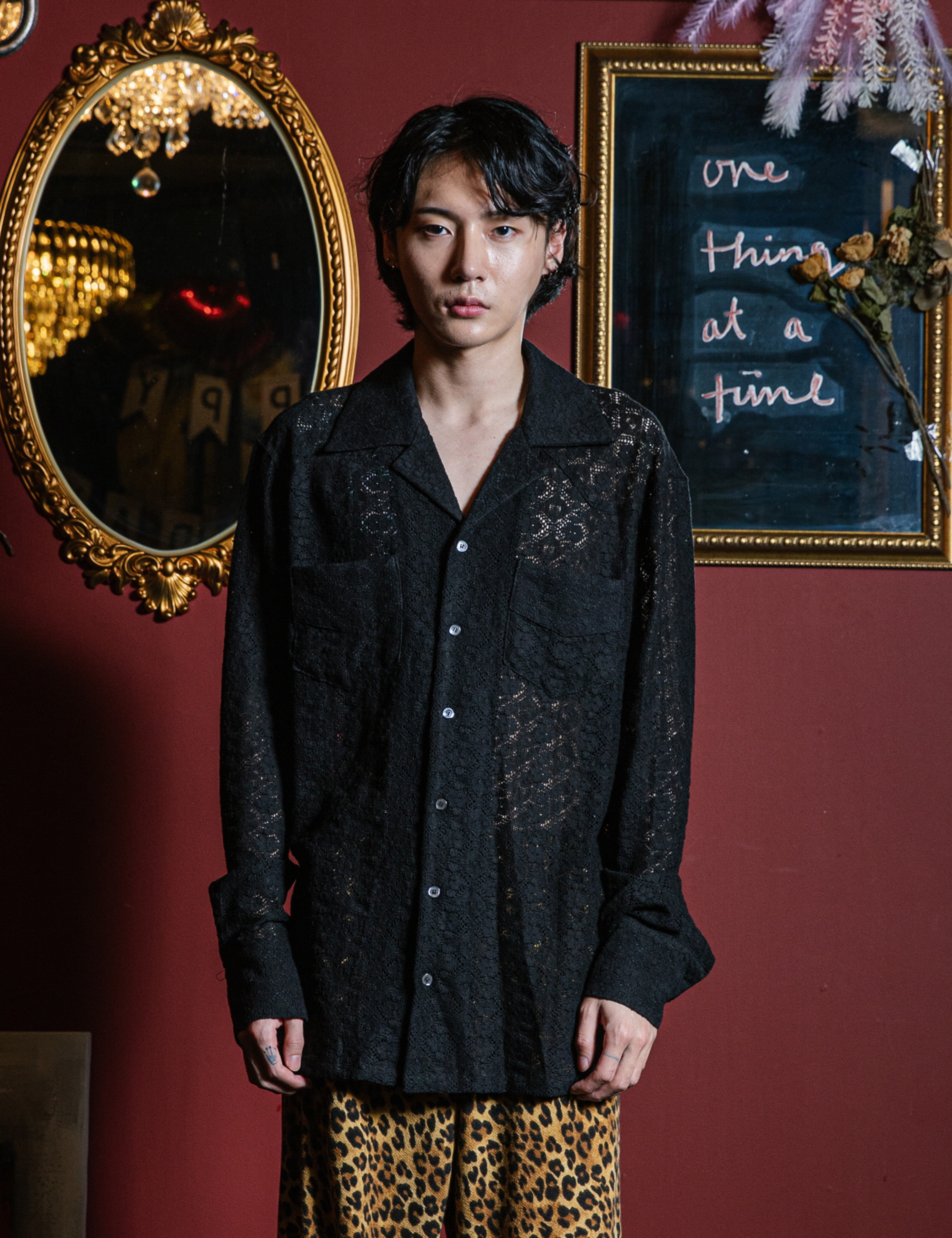WESTERN L/S SHIRTS_BLACK LACE