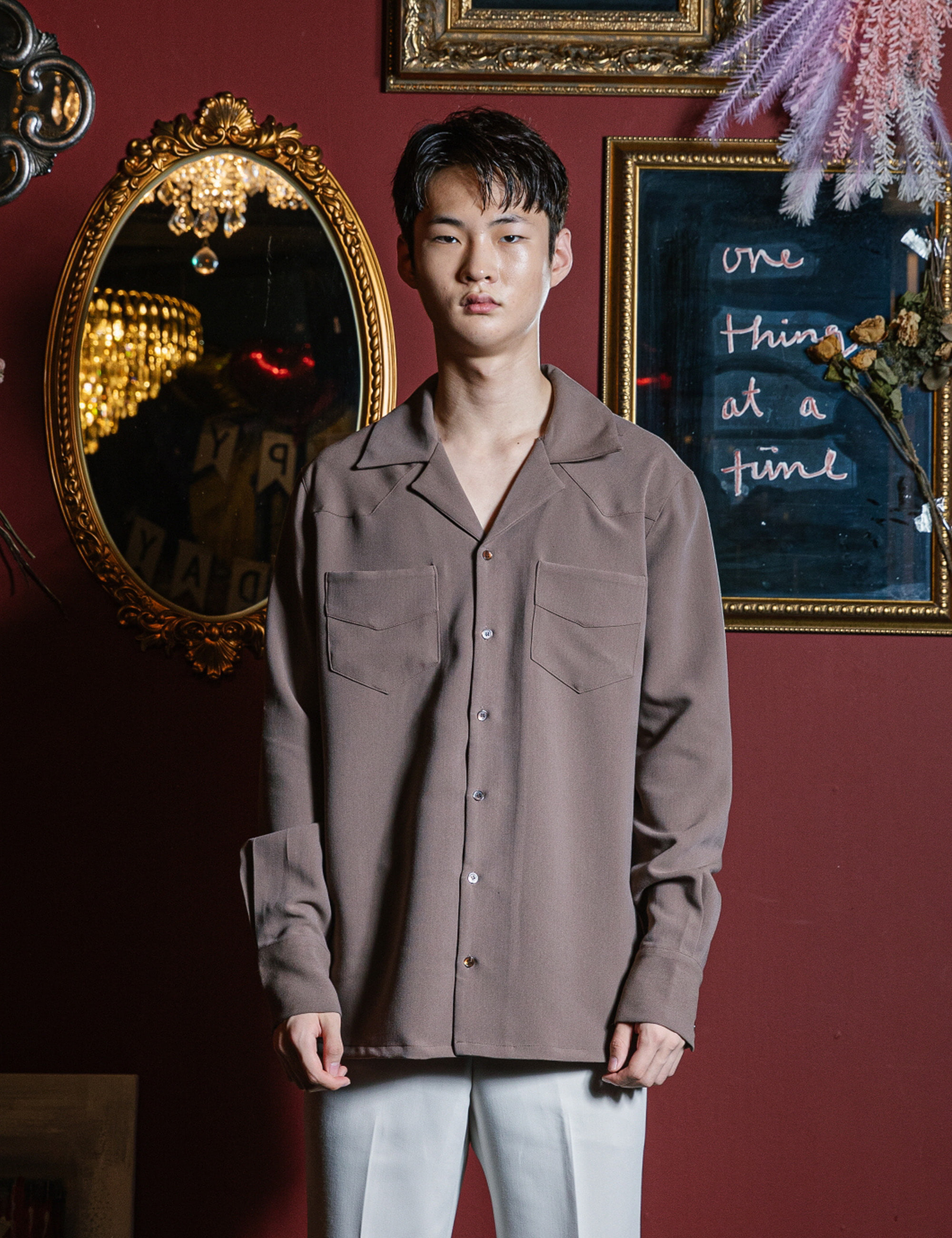 WESTERN L/S SHIRTS_BROWN