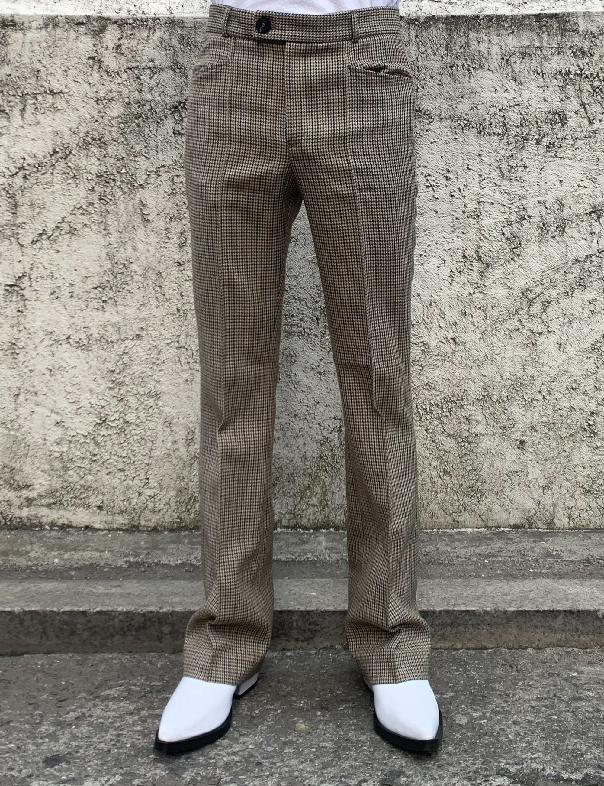 FLARE TROUSERS_HOUNDSTOOTH