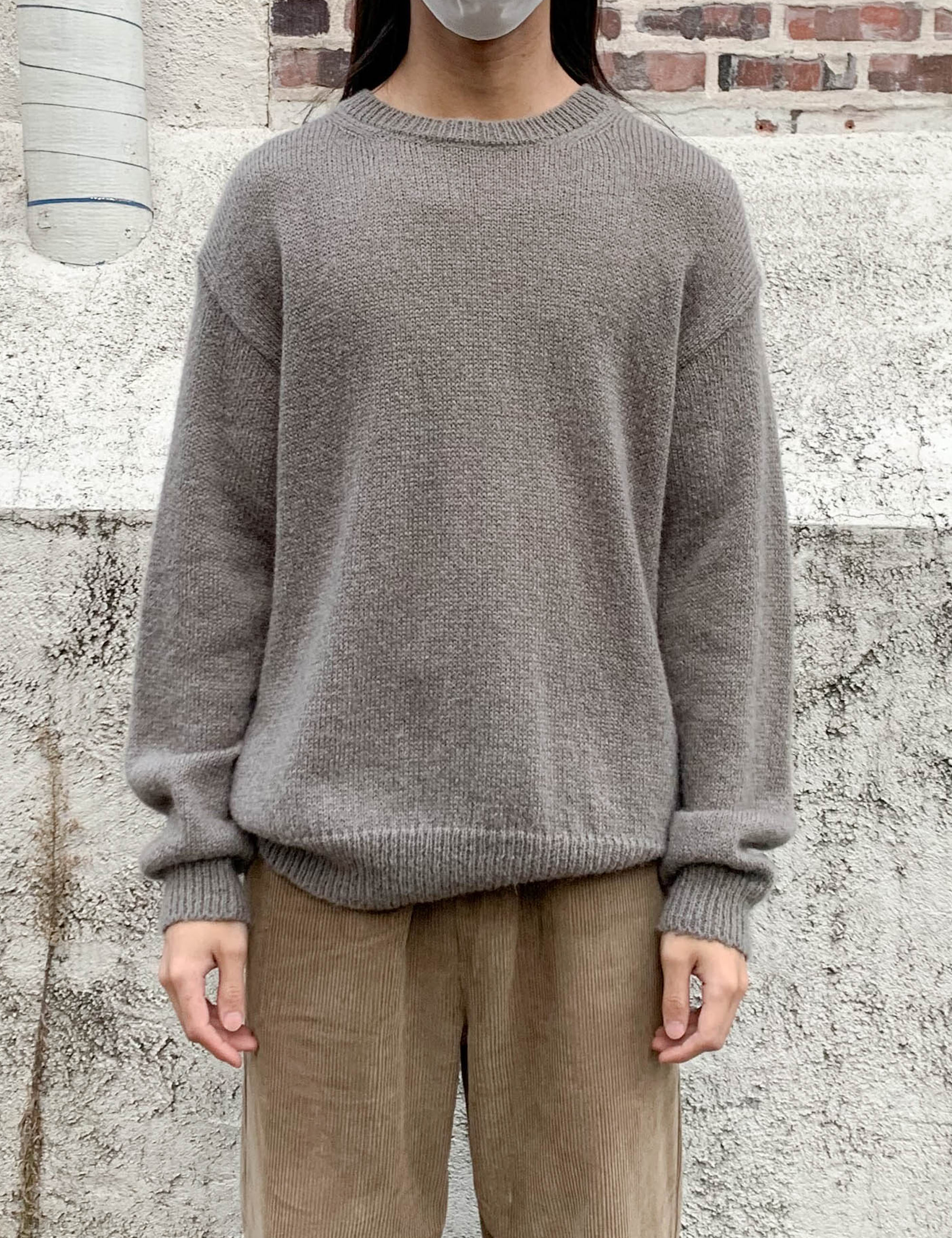 MOHAIR BASIC KNIT_GREY
