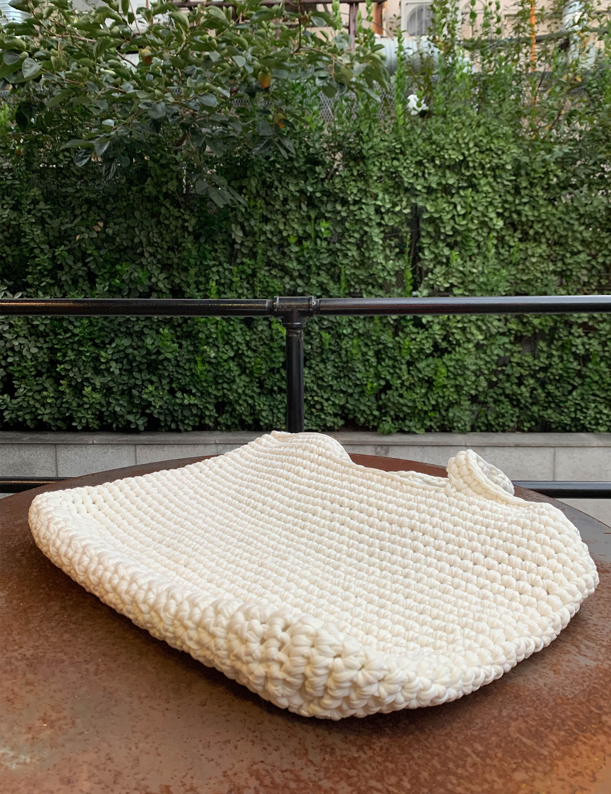 KNITTED BAG_IVORY
