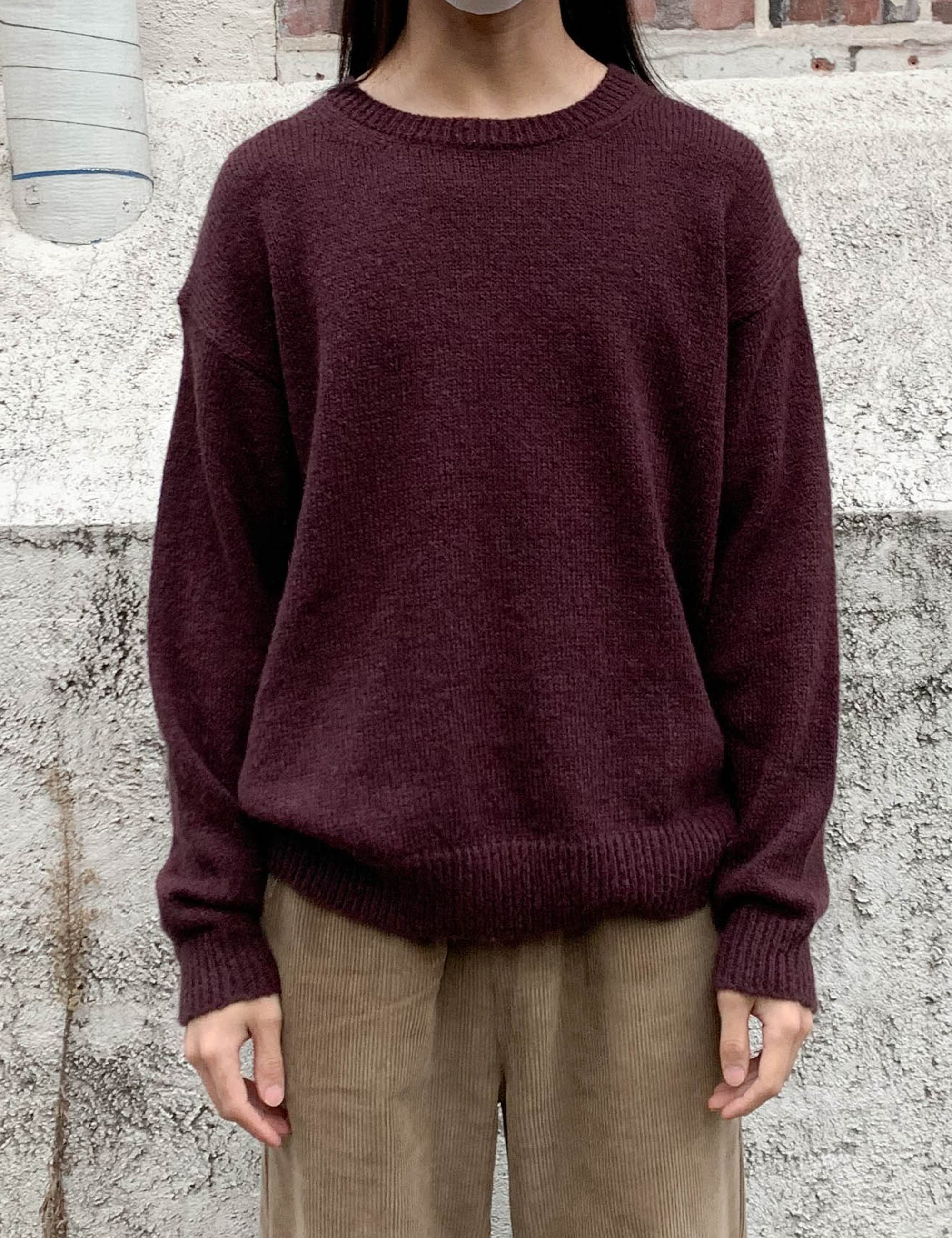 MOHAIR BASIC KNIT_PURPLE