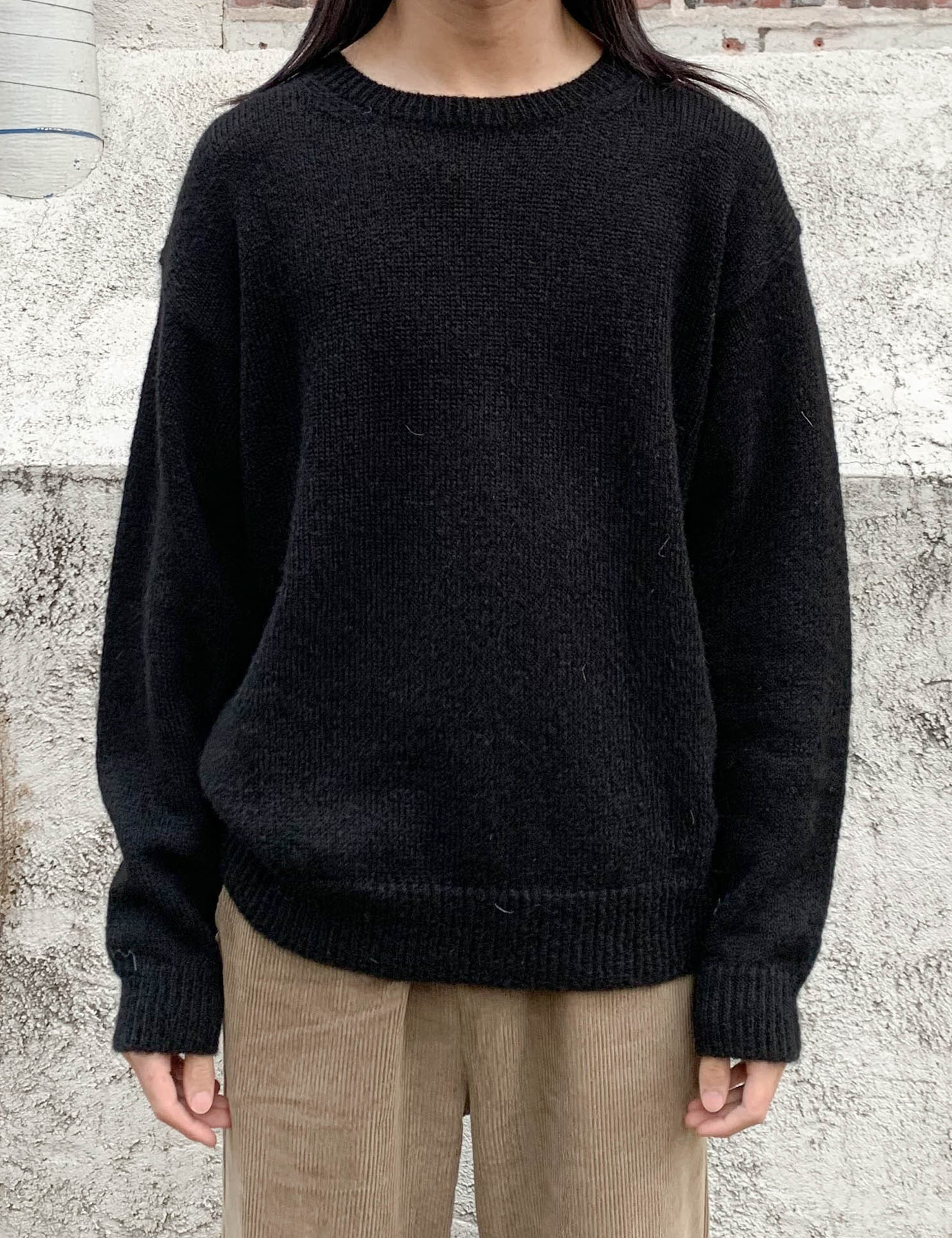 MOHAIR BASIC KNIT_BLACK