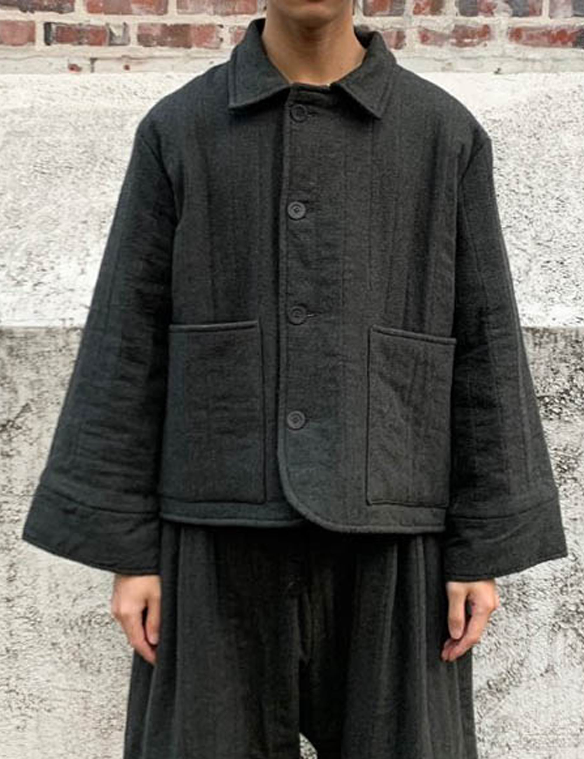 [EXCLUSIVE] JANUARY JACKET_DARK GREY COTTON, QUILTED